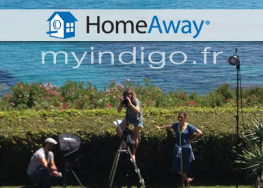 HOMEAWAY choooses one of myindigo.fr villas The leader of online holiday rentals uses myindigo.fr as a decor